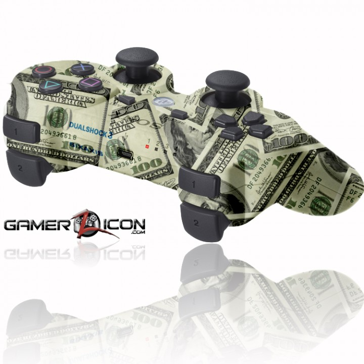 PS3 Rapid FIre Controller 100 Bill Money