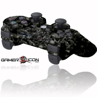 PS3 Rapid Fire Controller Dark Skulls