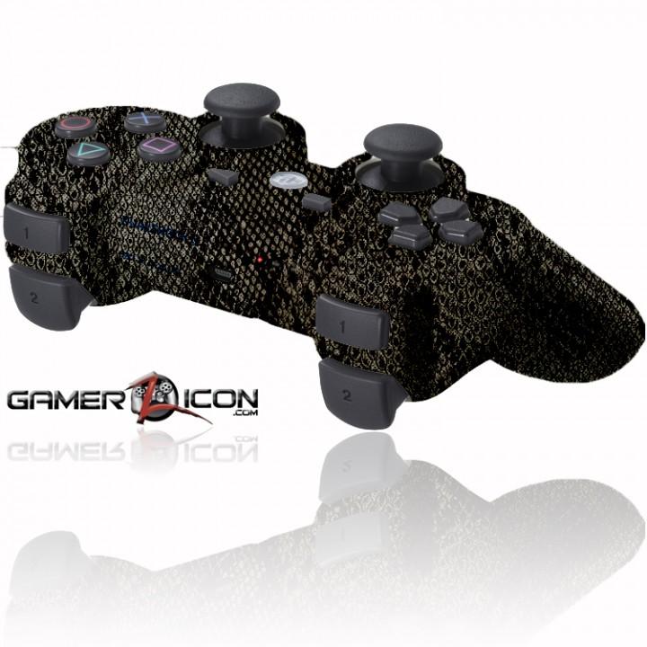 PS3 Rapid Fire Controller Dark Snake Skin