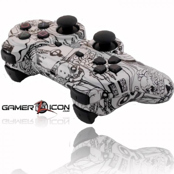 PS3 Rapid Fire Controller Koonky Skullz