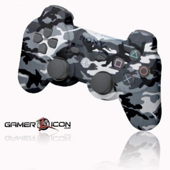 PS3 Urban Winter Camo rapid fire controller