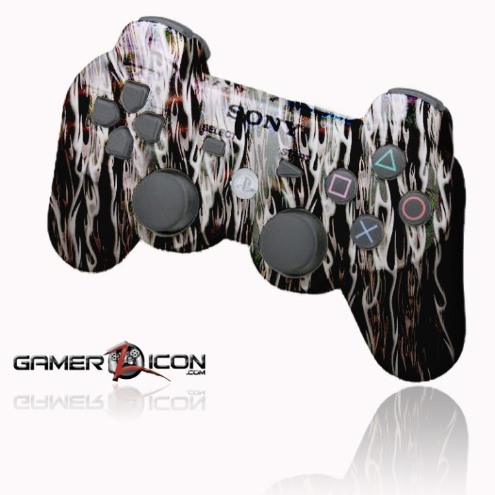 PS3 White Flames rapid fire controller