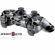 PS3 White Skull Modded Controller