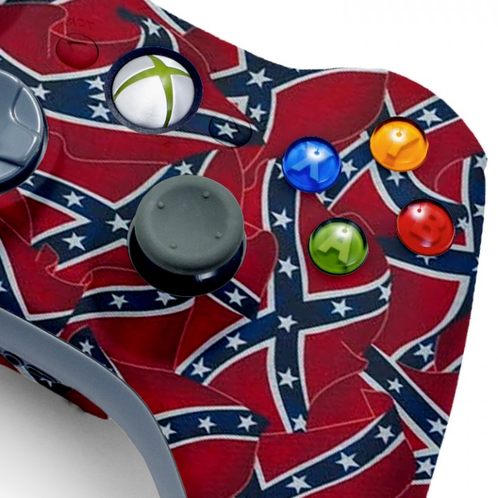 Xbox 360 Confederate Flag Modded Controller