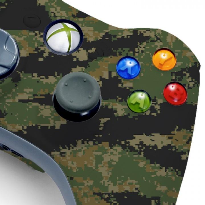 Xbox 360 Digital woodland camo modded controller