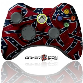 Xbox 360 Modded Controller Confederate Flag