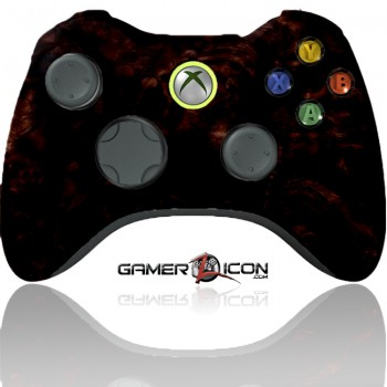 Xbox 360 Modded Controller Dark Woodgrain