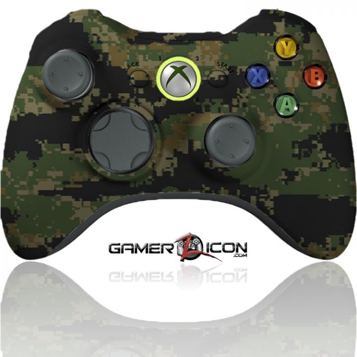 Xbox modded controller digital woodland camo