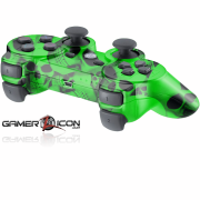 PS3 Green Skull Modded Controller