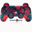 PS3 Modded Controller Red Skull