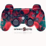 PS3 Modded Controller Red Skull