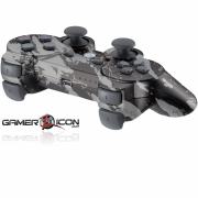 PS3 Modded Controller Savage Silver