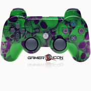 PS3 Modded Controller Skull Green