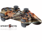 PS3 Orange Leaf Camo Modded Controller