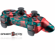 PS3 Red Skull Modded Controller