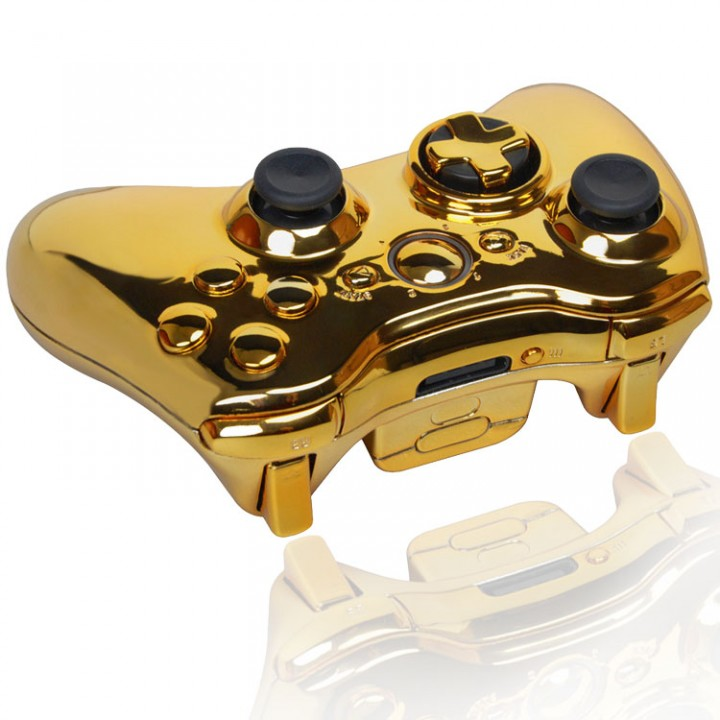 Xbox 360 Chrome Gold Modded Controller