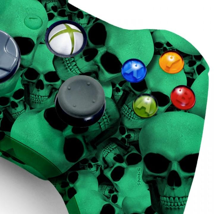 Xbox 360 Glow In The Dark Skull modded controller