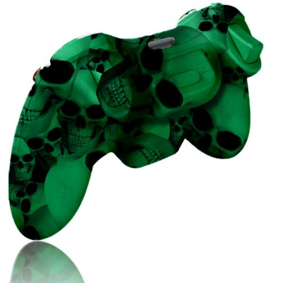 Xbox 360 Glow In The Dark Skull rapid fire controller