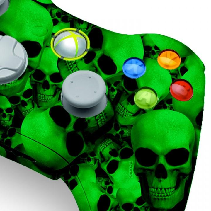 Xbox 360 Green Skull modded controller