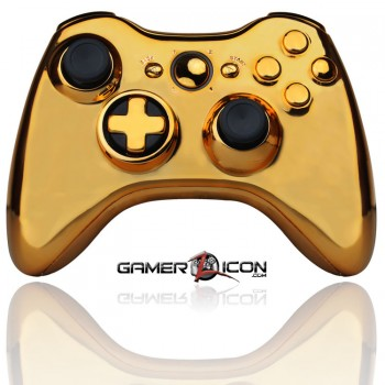 Xbox 360 Modded Controller Chrome Gold
