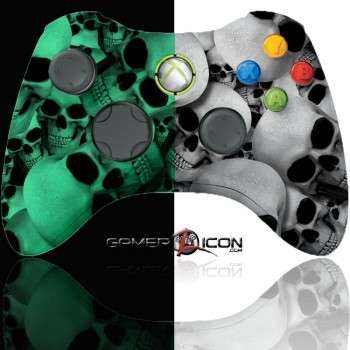 Xbox 360 Modded Controller Glow In The Dark Skull