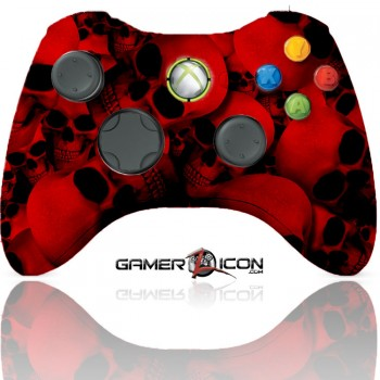 Xbox 360 Modded Controller Red Skull