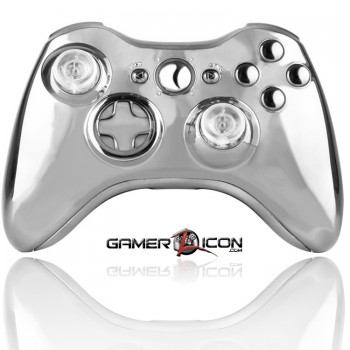 Xbox 360 Modded Controller Silver Chrome