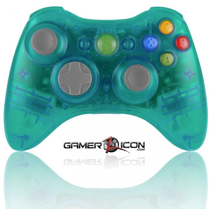 Xbox 360 Modded Controller Transparent Aqua