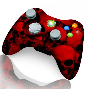 Xbox 360 Rapid Fire Controller Red Skull
