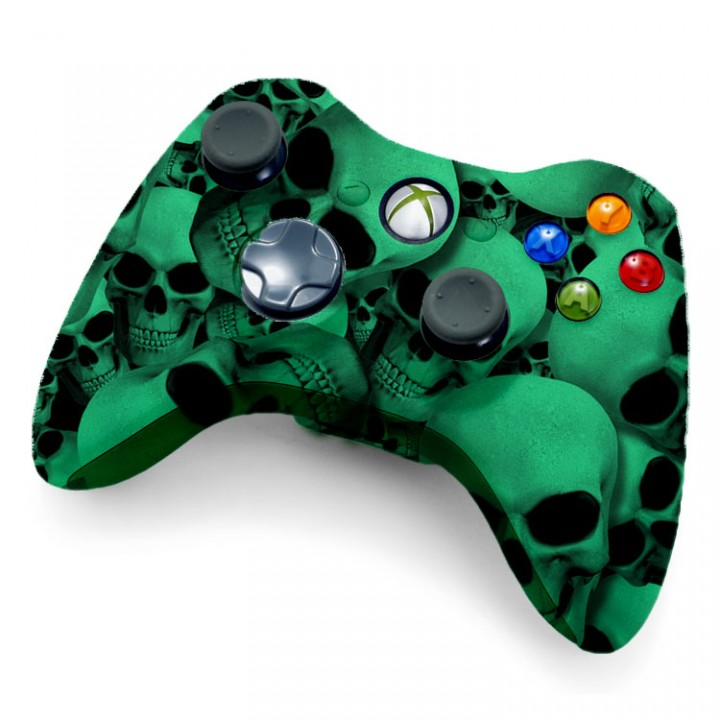 Xbox 360 Rapid Fire Glow In The Dark Skull