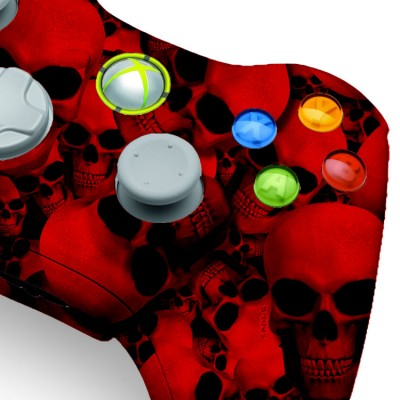 Xbox 360 Red Skull Modded Controller