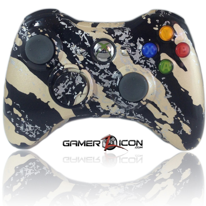 Xbox 360 Savage Gold modded controller