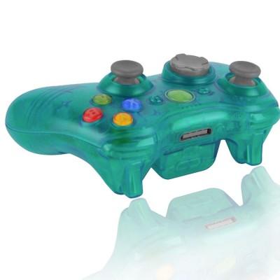 Xbox 360 Transparent Aqua modded controller