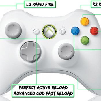 xbox 360 10 mode modded controller Special Edition White