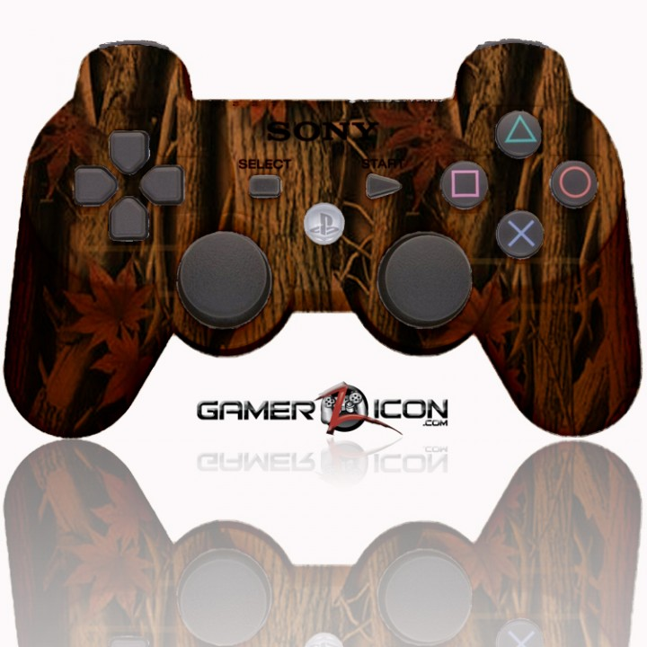 PS3 Modded Controller Tan Woods Camo