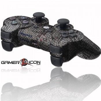 PS3 Rapid Fire Controller Silver Snake Skin