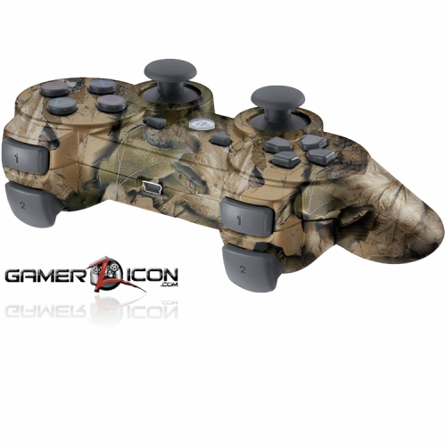 PS3 Tan Leaf Modded Controller