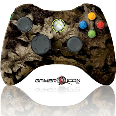 Xbox 360 Modded Controller Brown Leaf Camo