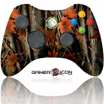 Xbox 360 Modded Controller Orange Leaf Camo