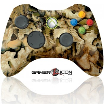 Xbox 360 Modded Controller Spring Leaf Camo