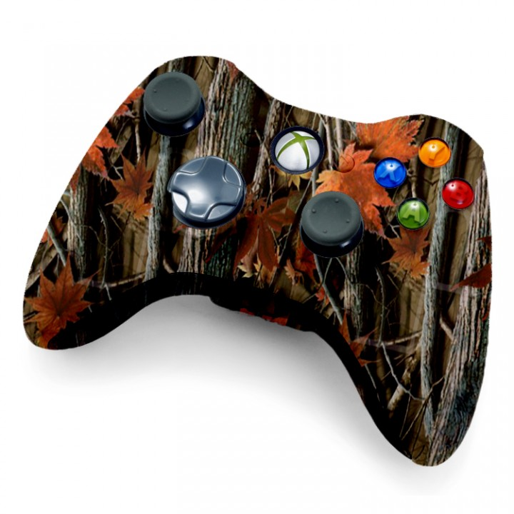 Xbox 360 Rapid Fire Controller Orange Leaf Camo