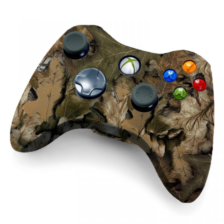 Xbox 360 Rapid Fire Controller Tan Leaf Camo