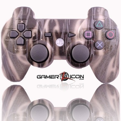PS3 Modded Controller Gold Flames