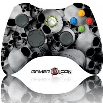 Xbox 360 Modded Controller White Skull