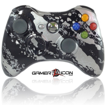 Xbox 360 Savage Silver modded controller