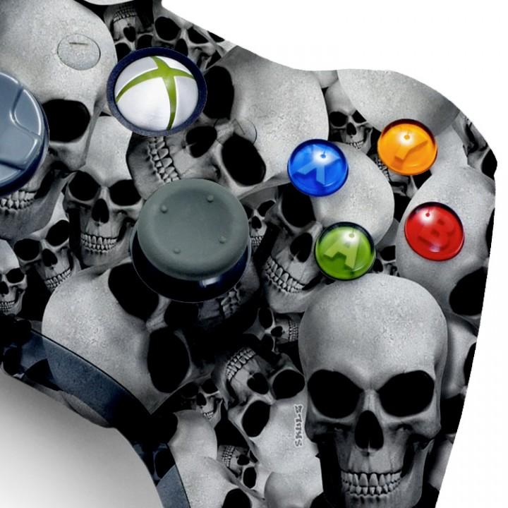 Xbox 360 White Skull modded controller