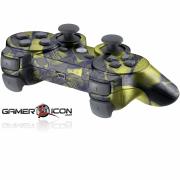 PS3 Gold Skull Modded Controller