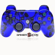 PS3 Modded Controller Blue Skull