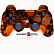 PS3 Modded Controller Orange Skull