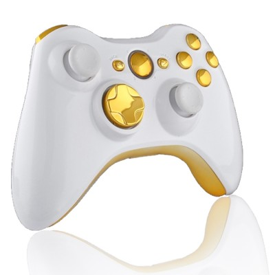Xbox 360 10 Mode Modded Controller White & Gold